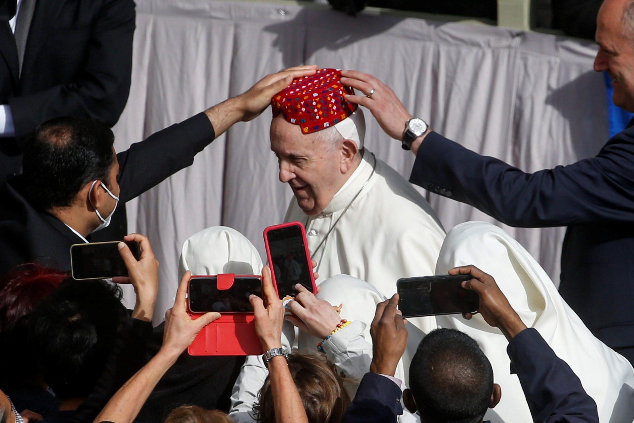 El Papa retoma siete meses después la audiencia general con fieles - El  Comercio