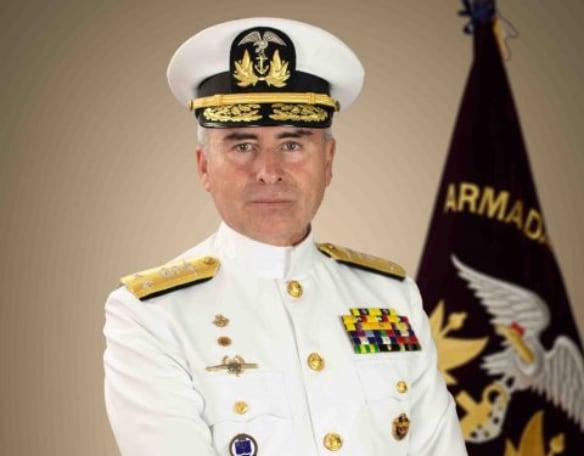 Comandante General de la Marina, el contralmirante Brumel Vázquez. Foto: Cortesía