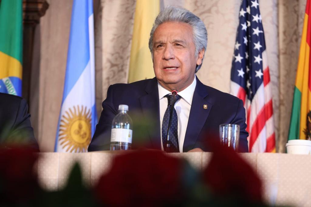 Cinco frases controversiales que Moreno dijo en el Foro por la Defensa de la Democracia