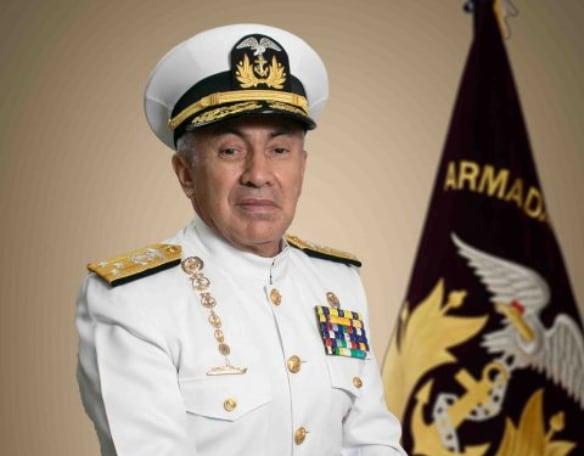 Jefe del Comando Conjunto de las FF.AA. (Comaco), el vicealmirante Jorge Cabrera. Foto: Cortesía