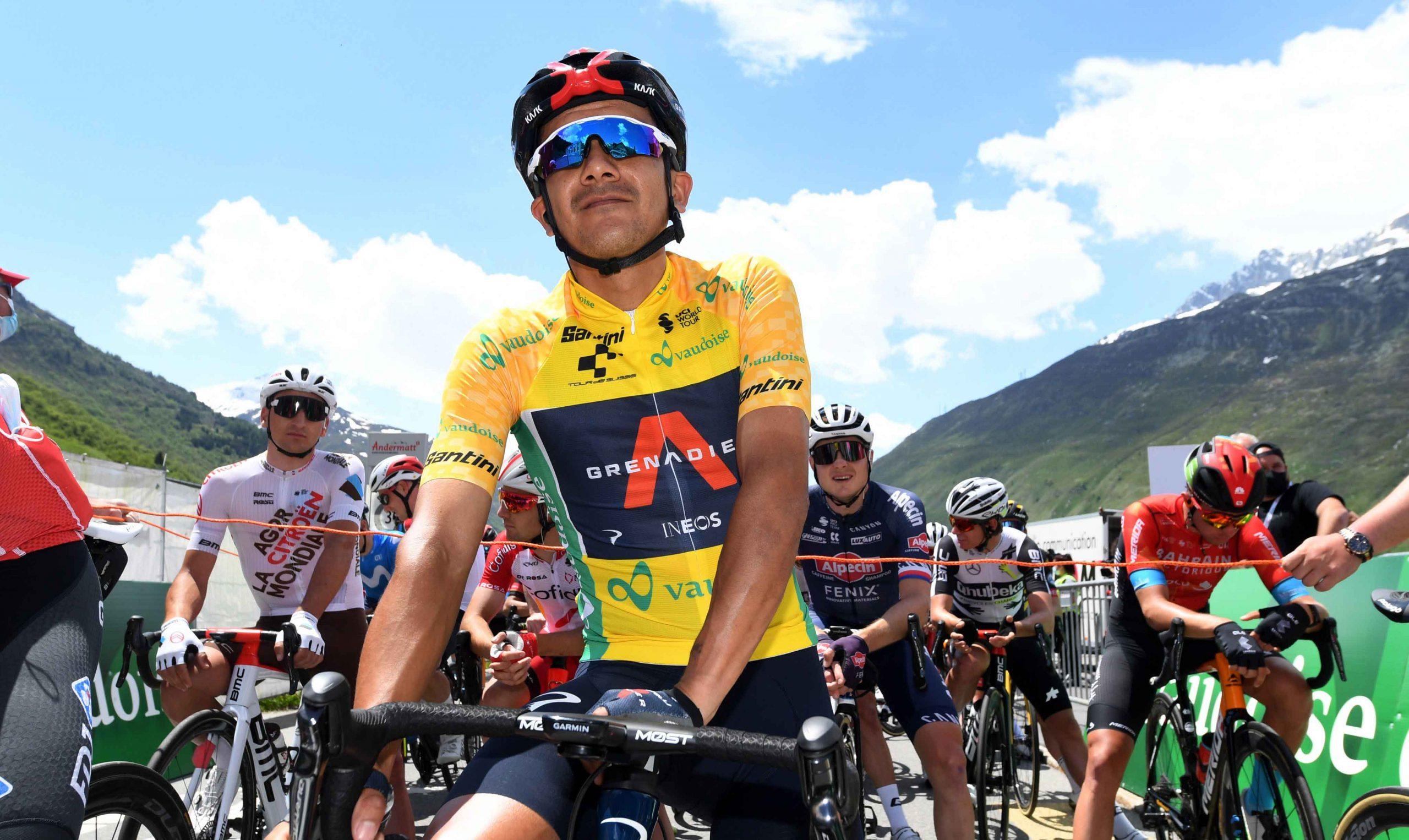 Richard Carapaz sostuvo el maillot amarillo en la sexta etapa del Tour de Suiza - El Comercio