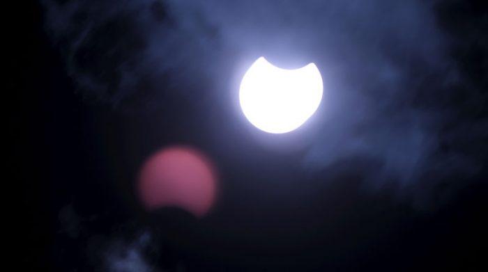 Fotografía del eclipse en Liepupe (Letonia). Foto: EFE