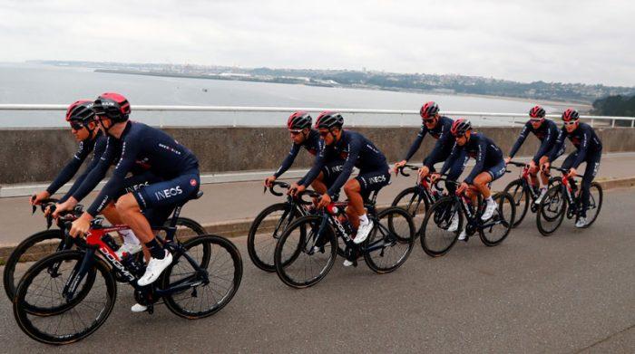 Este es el equipo completo del Ineos para el Tour de Francia 2021. Foto: EFE