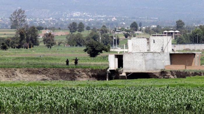El misterioso socavón de Puebla, en el centro de México, este 10 de junio del 2021 engulló a los dos perros. Foto: EFE