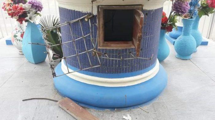 La malla de seguridad que resguardaba el dinero fue rota durante el robo. Foto: El Diario