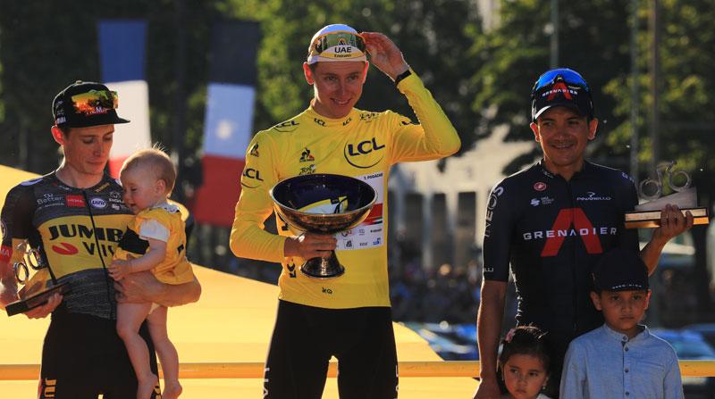 Las postales del Tour de Francia y del histórico podio de Richard Carapaz - El Comercio