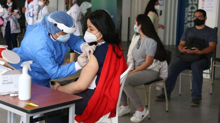 Existen diferentes puntos de vacunación para aplicarse la vacuna contra el covid-19 en Ecuador Foto: Diego Pallero/ EL COMERCIO