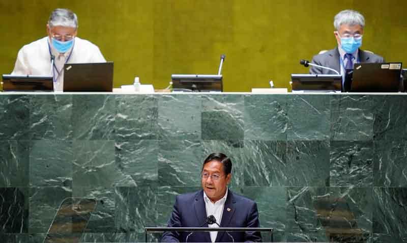 Luis Arce reivindica ante la ONU que en Bolivia hubo un 'golpe de Estado'
