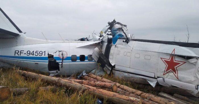 La nave se partió en dos partes, tras estrellarse en Rusia. Foto: Reuters