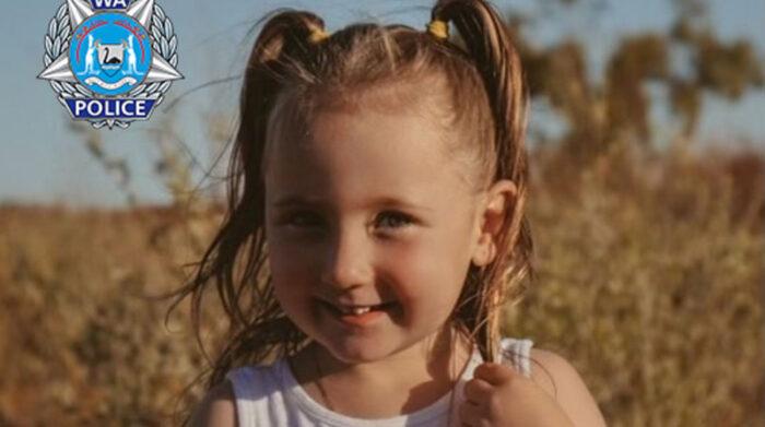 La niña Cleo Smith desapareció de una tienda en donde acampaba con su familia. Foto: EFE