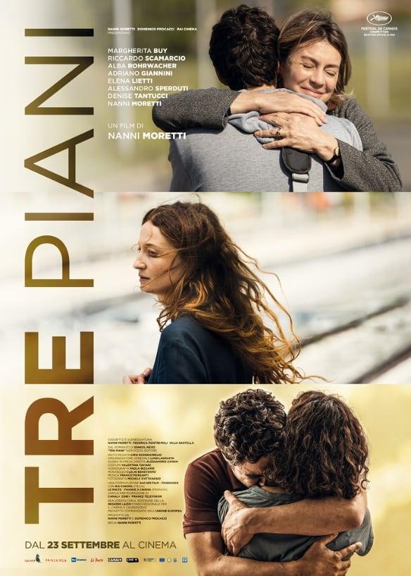 Poster de la película 'Tres pisos' de Nanni Moretti. Foto: Tomado de Cineuropa.org