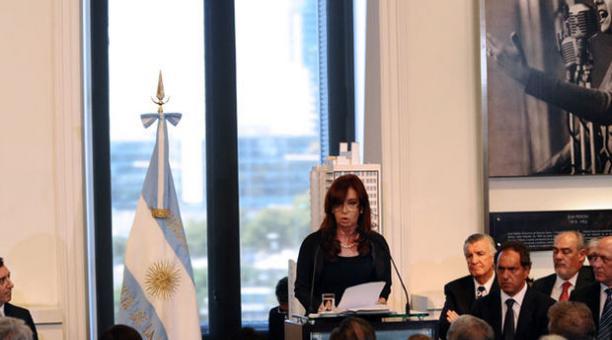 Cristina Fernandez, presidenta de Argentina. Foto: Archivo / AFP