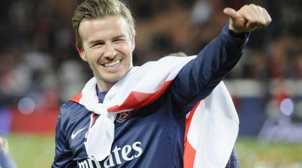 David Beckham se despide del Paris Saint German. Foto: Etienne Laurent/EFE