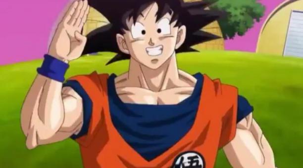Un video viral en Twitter muestra a Gokú, de la serie animada Dragon Ball, enviando saludos para la Selección ecuatoriana en las eliminatorias sudamericanas. Foto: Captura de pantalla