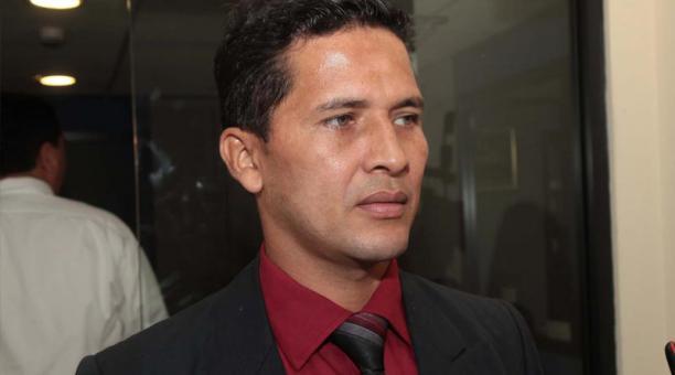 Luis Muentes, presidente de la Asociación Ecuatoriana de Árbitros de Fútbol, anunció que el gremio comenzará a buscar auspiciantes. Foto: Archivo EL COMERCIO
