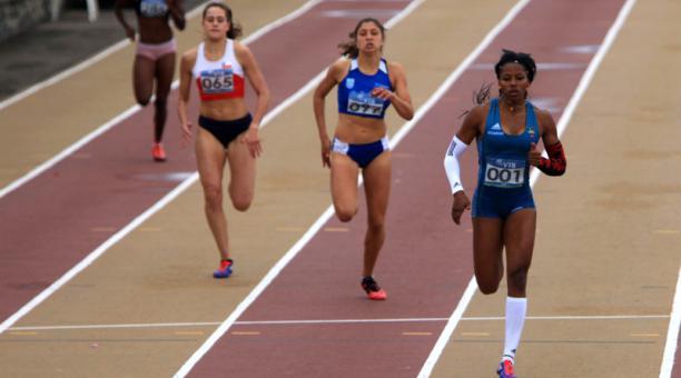 La atleta ecuatoriana Angela Tenorio. Foto referencial: Archivo EL COMERCIO