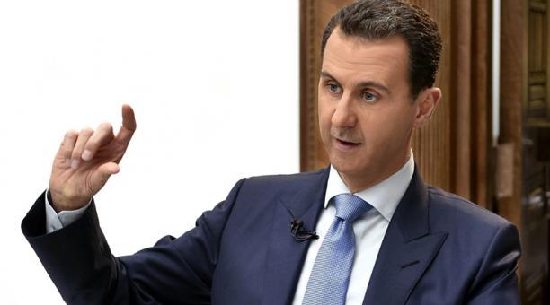 El presidente sirio Bachar al Asad ofrece una entrevista en Damasco (Siria) el pasado 3 de abril de 2017. Foto: EFE