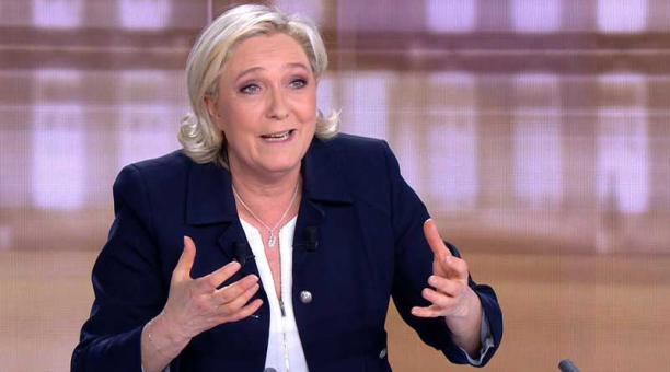 El miércoles Le Pen protagonizó junto a su contrincante Emmanuel Macron un virulento debate televisivo. Foto: AFP