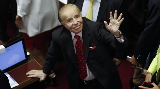 La Cámara de Casación argentina absolvió al expresidente Carlos Menem, de un proceso por contrabando de armas a Croacia y Ecuador. Foto: EFE