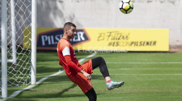 El golero Adrián Gabbarini, de 33 años, suma 41 partidos jugados en el torneo. Ha atajado cuatro penales. Foto: Víctor Muñoz / EL COMERCIO
