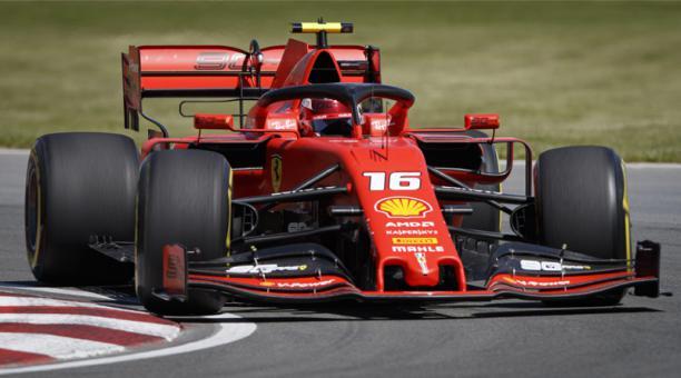 El piloto monegasco Charles Leclerc de la Scuderia Ferrari en acción durante la primera sesión de práctica del Gran Premio de Canadá de F1 en el circuito Gilles Villeneuve en Montreal, Canadá, el 7 de junio de 2019. EFE
