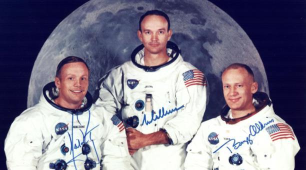 Los astronautas Buzz Aldrin y Michael Collins estarán presentes en la plataforma en la que hace 50 años se lanzó la primera misión que llegó a la Luna. Foto: EFE/ NASA.