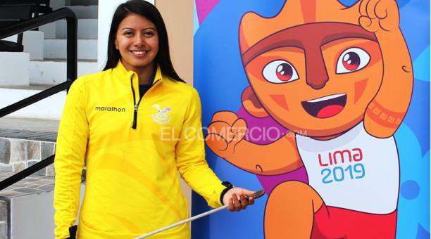 La deportista ecuatoriana Marcela Cuaspud consiguió un cupo para los Juegos Olímpicos de Tokio 2020 en Pentatlón Moderno el sábado 27 de julio del 2019, en los Juegos Panamericanos de Lima 2019. Foto: Martha Córdova desde Lima / EL COMERCIO