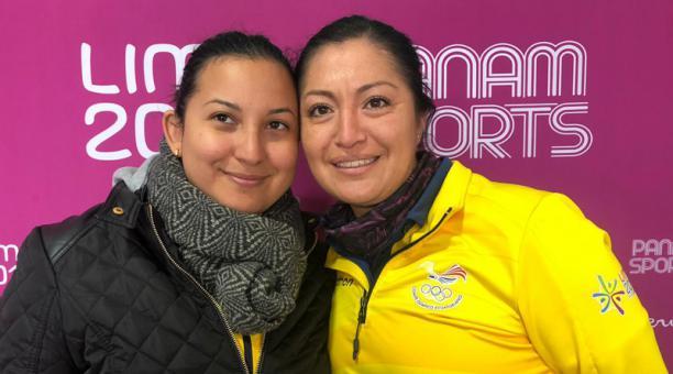 Marina Pérez y Diana Durango compiten en los Juegos Panamericanos LIma 2019. Foto: @Deporteec