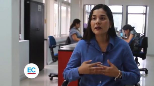Entrevista a la vicepresidenta del Consejo de Participación Ciudadana, Sofia Almeida. Captura video
