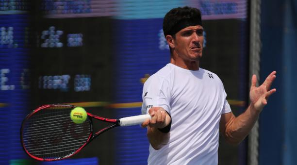 Emilio Gomez perdió con Mirza Basic en la segunda ronda de la 'qualy' del US Open. Foto: Dino García para EL COMERCIO