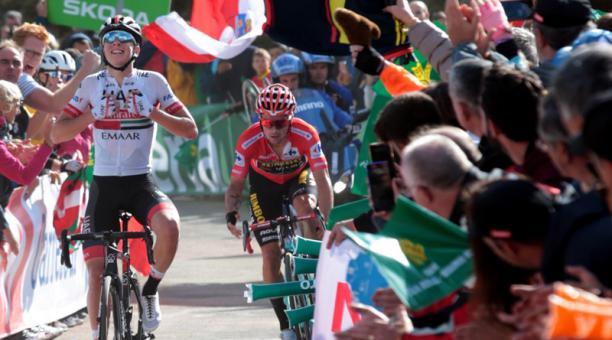 El esloveno Tadej Pogacar (UAE Emirates) ganó la decimotercera etapa de la Vuelta a España 2019, este 6 de septiembre del 2019. Foto: EFE