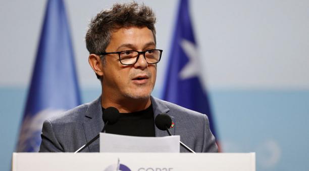 El cantante español Alejandro Sanz urgió este martes 10 de diciembre del 2019 a la comunidad internacional a actuar contra el cambio climático, en la COP25 de Madrid. Foto: EFE
