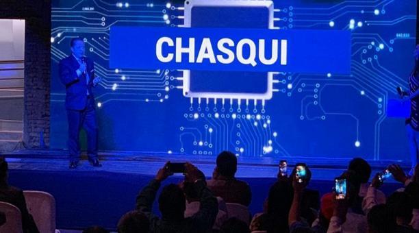 Este lunes 16 de diciembre del 2019 se presentó la plataforma digital 'Chasqui', para el servicio de taxis en Quito. Foto: cortesía Municipio de Quito
