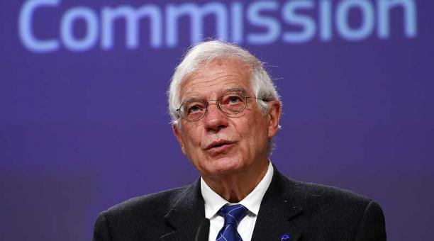 """Josep Borrell, jefe de la UE, anunció que el organismo tomó """"positivamente"""" el nuevo plan de Estados Unidos. Foto: EFE"""