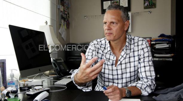 Esteban Paz, dirigente de Liga de Quito. Foto: Archivo / EL COMERCIO