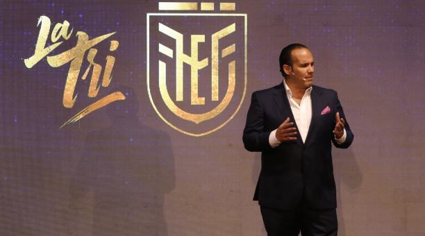 El presidente de la Federación Ecuatoriana de Fútbol, Francisco Egas, respondió sobre los polémicos temas. Archivo/EL COMERCIO
