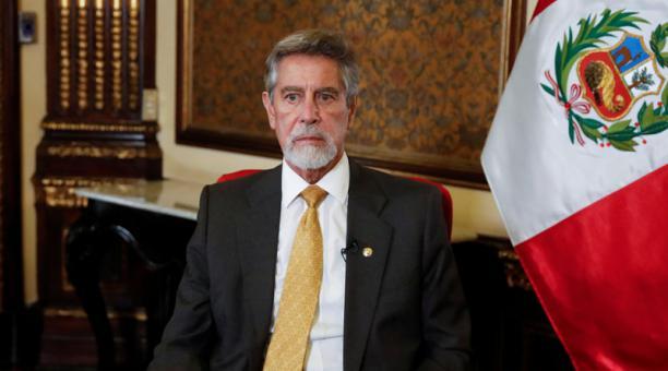 Sagasti anunció que, en uso de las atribuciones constitucionales, decidió designar como nuevo comandante general de la Policía Nacional del Perú. Foto: Reuters