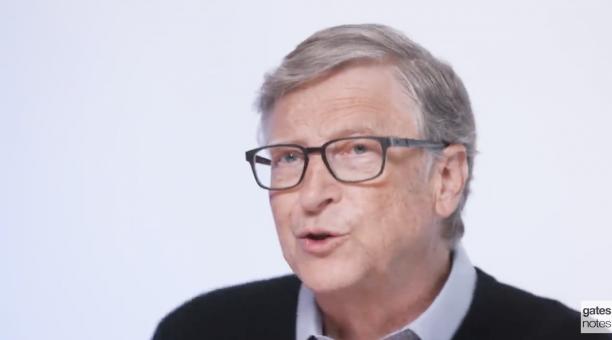 El empresario Bill Gates se refirió a la importancia de luchar contra la Malaria. Foto: Captura