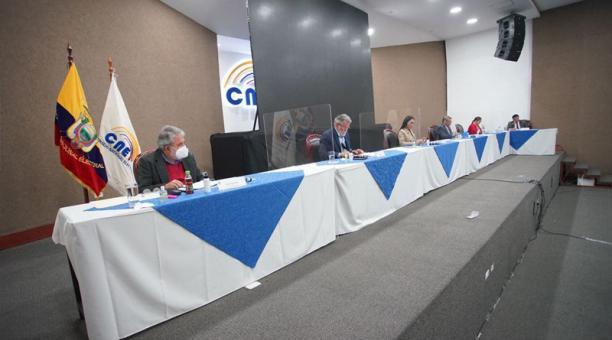 Las medidas son parte del Protocolo para prevención del covid-19 en la campaña electoral que aprobó el pleno del Consejo Nacional Electoral (CNE), la noche del 17 de diciembre del 2020. Foto: Twitter / CNE