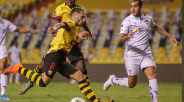 Barcelona y Liga de Quito jugaron la final de ida en el estadio Monumental. Tomado de Barcelona