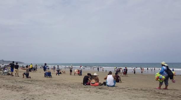 Foto de la playa El Murgiélago, en la ciudad de Manta. Foto: Cortesía Cámara de Turismo de Manabí