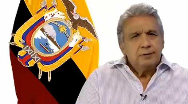 En cadena nacional, el presidente Lenín Moreno dijo que acatará la decisión de la Corte Constitucional sobre el estado de excepción. Foto: captura