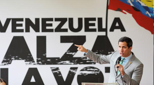 Foto de archivo del líder opositor de Venezuela, Juan Guaido, en un acto en Caracas. Foto: EFE