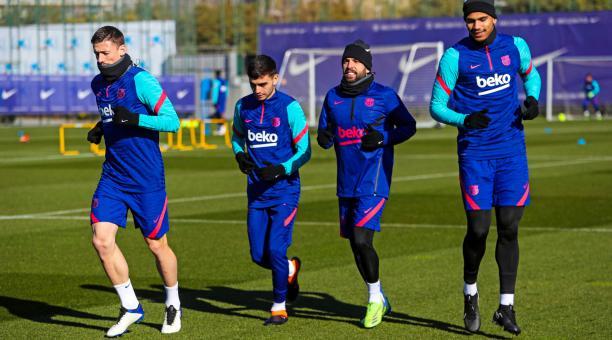 El FC Barcelona se entrenó este 4 de enero de 2020 en su complejo. Foto: Twitter del club