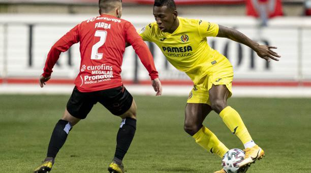 Pervis Estupiñán fue titular en el triunfo de Villarreal sobre el Zamora, por la Copa del Rey. Foto: Villarreal