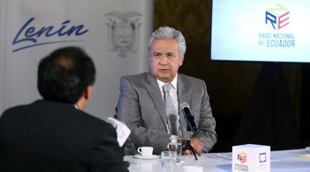 El presidente Lenín Moreno habló el 6 de enero del 2021 sobre el dictamen de la Corte Constitucional de dejar sin efecto el decreto de estado de excepción por el feriado de Navidad y fin del año 2020. Foto: Flickr Presidencia Ecuador