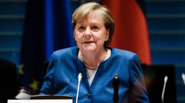 La Canciller de Alemania, Angela Merkel, culpó este 7 de enero del 2021 a  Donald Trump de los incidentes violentos registrados el 6 de enero en el Capitolio de EE.UU.. Foto: EFE.