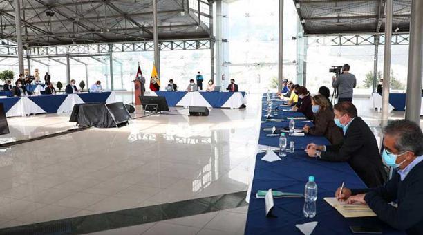 Este 7 de enero del 2021, el Concejo Metropolitano de Quito se reunió en el Palacio de Cristal del Itchimbía. Foto: Twitter  Municipio de Quito