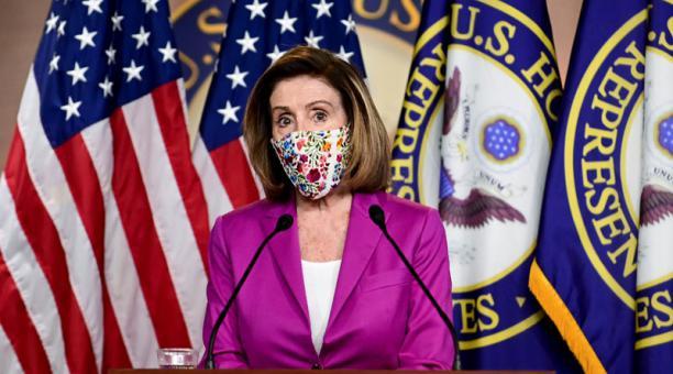 La presidenta de la Cámara de Representantes de Estados Unidos, Nancy Pelosi habló del pedido que hizo a un Jefe militar sobre quitar los códigos de armas nucleares a Donald Trump. Foto: Reuters