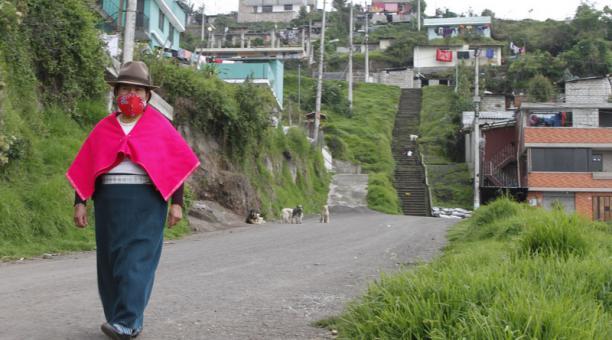 La mayoría de pobladores del barrio Buenaventura Alta, en el sur de Quito, es indígena.